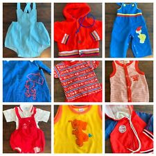Vtg Lot Clothes Boys Infant 0 - 12 mo 50s 70s 80s Sun Suit Embroidered HealthTex