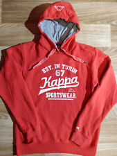Kappa Vintage Mens Tracksuit Top Hooded Jacket Hoodie Red White