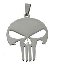 New Sterling Silver Punisher Skull Skeleton Symbol pendant charm Military Chest