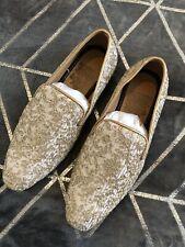 Para hombre novio boda indio paquistaní estilo mocasín sabyasashi Oro Zapatos Talla 6/7