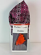 Men's Jacket, Sport Coat, Suit POCKET SQUARE Handkerchief HOLDER NEW