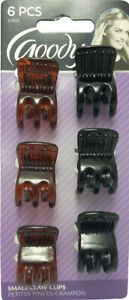 GOODY - Womens Classic Mini Claw Clips - 6 Clips