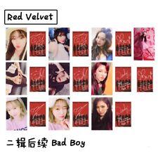 Kpop Red Velvet BAD BOY Album Paper Photo Cards Self Made Autograph Poster 10pcs