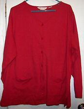 Bechamel ll Solid Red Long Sleeve Button Down 2 Pocket 100% Cotton Size XL