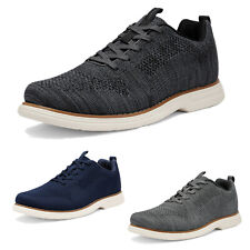 Mens Athletic Shoes Lace up Fashion Sneakers Knit Comfort Walking Shoes