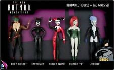 DC Bad Girls Set Bendable Figures Catwoman Harley Quinn Poison Ivy Livewire
