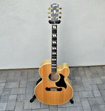 Gibson J-185 Ec 2001 Flame Maple Ohsc Excellent Condition