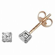 Diamond Solitaire Earrings 0.30ctw Yellow Gold Studs  Appraisal Certificate