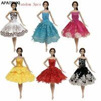 "3pcs/lot Random Ballet Dress For 11.5"" Doll Clothes Evening Dresses Outfits 1/6"