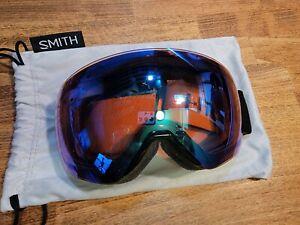 Smith Optics Skyline Goggles Black w/ Photochromic Rose Flash & Sun Black Lenses