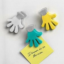 Spectrum Handy Snack Clips 3 Set Magnetic Note Photo 13745 Turquoise Gray Yellow