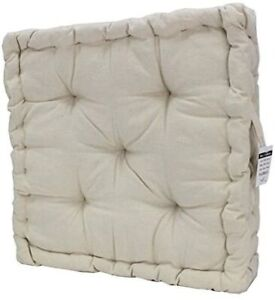 CHUNKY GARDEN DINING CHAIR ARMCHAIR BOOSTER 100 % COTTON CUSHION THICK SEAT PAD