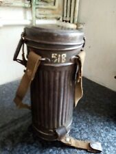 More details for original world war 2 gas mask and container