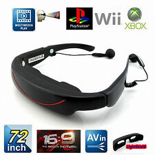 "4G Memory 72"" Video Glasses/Goggles w/ AV-IN Function-WideScreen Eyewear Theatre"