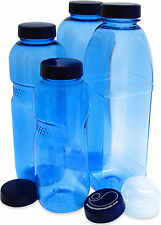 Bottle set of 4 bottles 2 x Extra Cover & 1 x closure sporty flip-top
