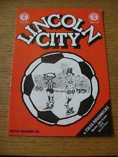29/10/1979 Lincoln City v Tulsa Roughnecks [Friendly] . No obvious faults, unles