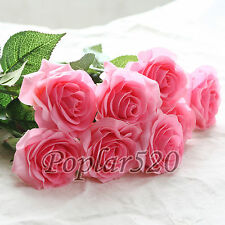 10-20 Heads Real Touch Latex Rose Flowers Bouquet Wedding Party Home Decoration