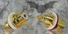 Vampire Wire #CM7F High end copper chassis mount connector/inside nut-1Pair