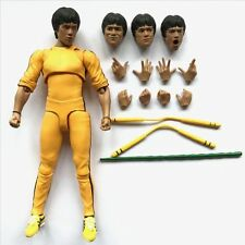 S.H.Figuarts Bruce Lee Yellow Track Suit Ver Action Figure Extra 3 Face 8 Hands
