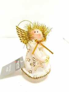 DELUXE 12CM CHRISTMAS TREE TOP/HANGING FAIRY / ANGEL DECORATION SILVER PREMIER
