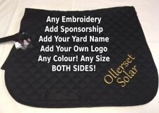 Personalised Embroidered Rhinegold Saddle Cloth / Numnah ALL COLOURS & SIZES
