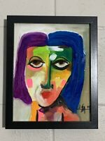 """PAINTING ACRYLIC,RESIN ON CANVAS PANEL (FRAME INCLUDED)CUBAN ART  8""""X10""""by LISA."""