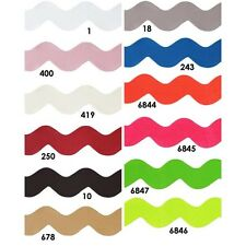 Satin Ribbon Ric Rac Berisfords Wavy Lazer Cut 30mm 12 Shade Soft Silky Ribbon