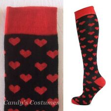 Pink RED Love HEART Knee-High SOCKS Ladies CRAZY Strawberry FUN Gift