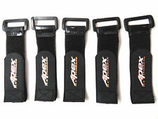 Apex RC Products 30mm X 200mm HD Rubberized Battery Straps - 5 Pack #3035
