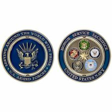 """COIN: 2"""" NAVY PROUD MILITARY FAMILY"""
