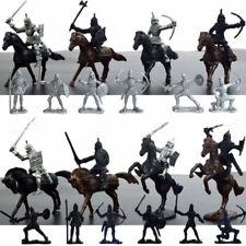 28x Mittelalter Ritter Pferde Soldaten Figuren Spielzeug Kinder Neueste