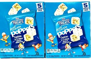 2 Boxes Kellogg's 5 Oz Rice Krispies Treats Poppers Cookies N Creme 5 Pouches