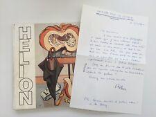 Jean HELION Lettre manuscrite signé + Dédicace Catalogue MAM Paris 1984