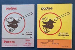1970 & 1971 Lodi Padres baseball programs - unscored