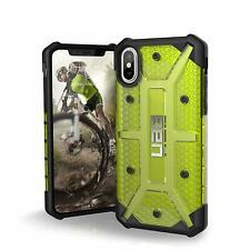 Urban Armor Gear (UAG) iPhone XS & X Plasma Tough Case Cover Clear Citron/Yellow