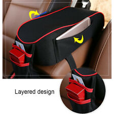Car Armrest Center Console Support Cushion Memory Foam Pad Pillow with Pockets