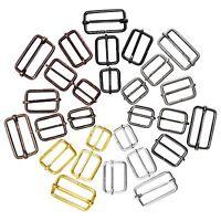 """Metal sliding bar strap adjuster buckles slider 1"""" 1 1/4"""" 1 1/2"""" tri glides pin"""