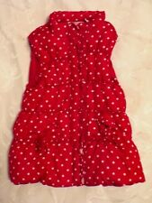Puffer Vest Kids Headquarters Girls Red White Polka Dot Toddler Size 4T