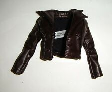 Barbie Fashion Brown Faux Leather Jacket For Fashion Fever Barbie Doll fn669