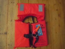 BNWT QUICKSILVER ADULT LIFE JACKET/VEST & WHISTLE. PFD TYPE 1. 40KG+