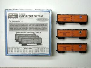 MTL Micro-Trains 59010 59012 Pacific Fruit Express PFE 40405 40412 40417  3 pack