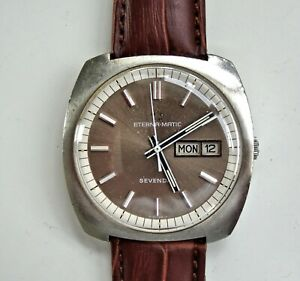 """Gent's Vintage Eterna-Matic """"Sevenday"""" Swiss Made Automatic Watch with Day/Date"""