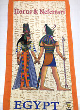 "Horus And Nefertari Dahab 100% Egyptian Cotton Beach Towel 55"" x 28"""