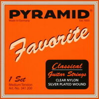 Pyramid Classical Guitar Strings - Medium Tension - 1 Satz Konzertgitarrensaiten