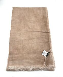 Faliero Sarti modal silk scarf in beige nwt
