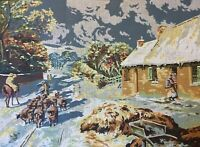 "Vintage Penelope Tapestry Canvas by Penelope   ❤️ ""Burns' Cottage Alloway"" MC502"