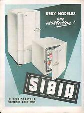 ▬► PUBLICITE ADVERTISING AD Réfrigérateur électrique SIBIR