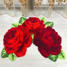 3D Rose Flower Carpet Bathroom Non-slip Area Rug Household Bedroom Floor Mat