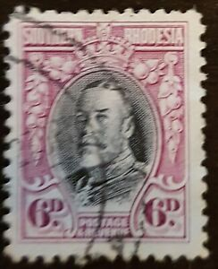 Southern Rhodesia - 1931 - Sc  22 - 6p Rose Lilac and Blk KGV  Used