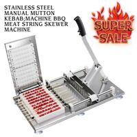 Manual Satay Skewer Machine BBQ Stainless Steel Mutton Kebab Lamb Skewer Tools
